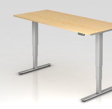 Serie HB Schreibtisch XDSM mit Memory Schalter 180 x 80 cm in Silber