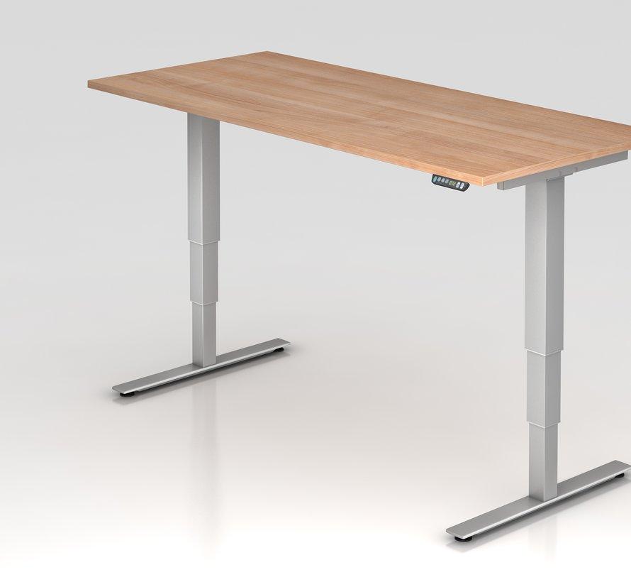 Schreibtisch XDSM mit Memory Schalter 180 x 80 cm in Silber und in 7 Farbvarianten