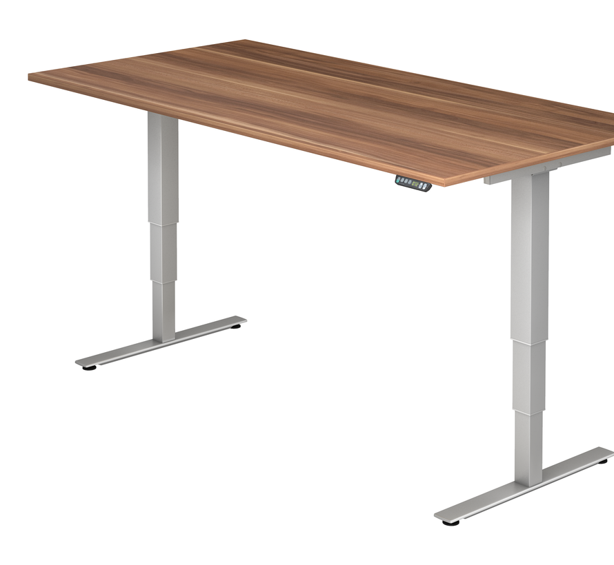 Schreibtisch XDSM mit Memory Schalter 200 x 100 cm in Silber und in 7 Farbvarianten
