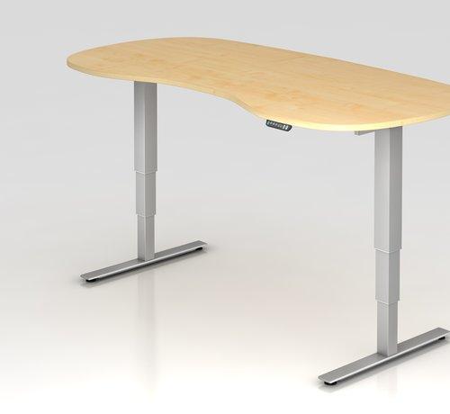 Serie HB Schreibtisch XDSM Rund mit Memory Schalter 200 x 100 cm in Silber und in 7 Farbvarianten
