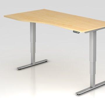 Serie HB Schreibtisch XDSM mit Memory Schalter 180 x 100 cm in Silber