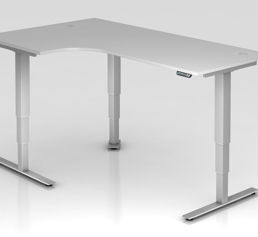 Schreibtisch XDSM mit Memory Schalter 200 x 120 cm in Silber und in 7 Farbvarianten