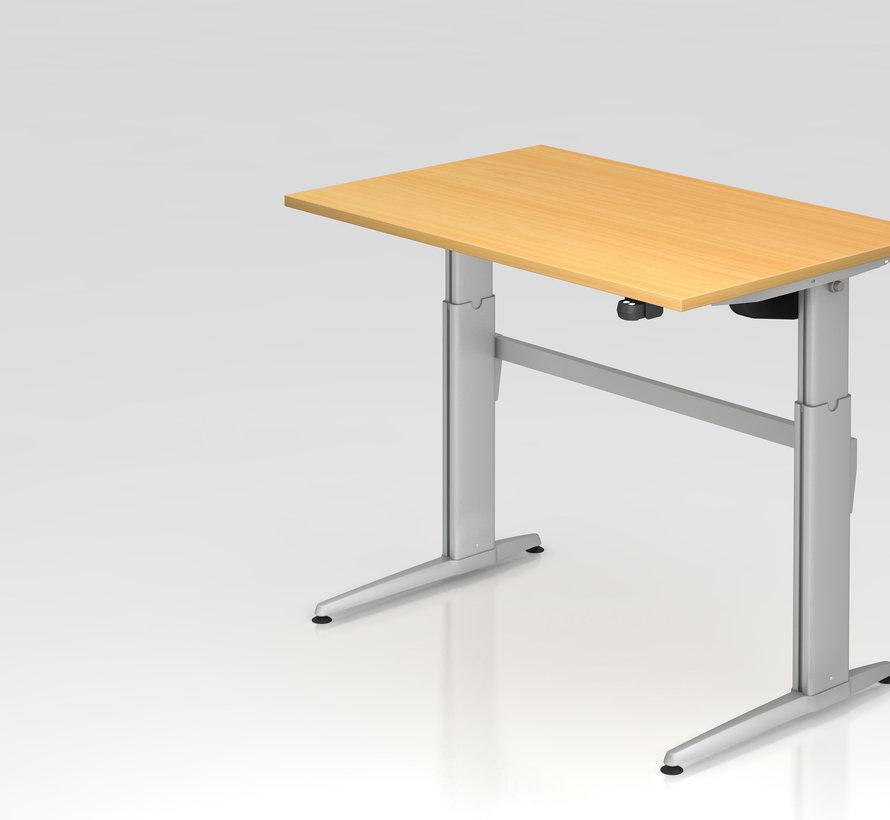 Schreibtisch XE  120 x 80 cm in Silber  mit Elektroantrieb
