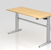Serie HB Schreibtisch XE  180 x 80 cm in Silber
