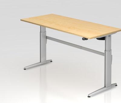 Serie HB Schreibtisch XE  180 x 80 cm in Silber und in 7 Farbvarianten