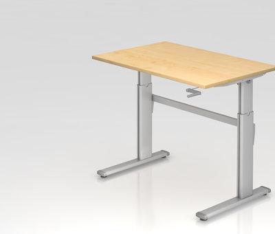 Serie HB Schreibtisch XK  120 x 80 cm in Silber und in 7 Farbvarianten