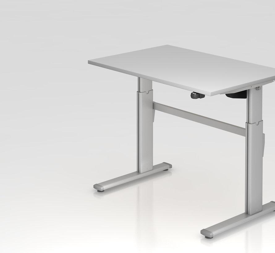 Schreibtisch XM 120 x 80 cm in Silber und in 7 Farbvarianten mit Elektroantrieb
