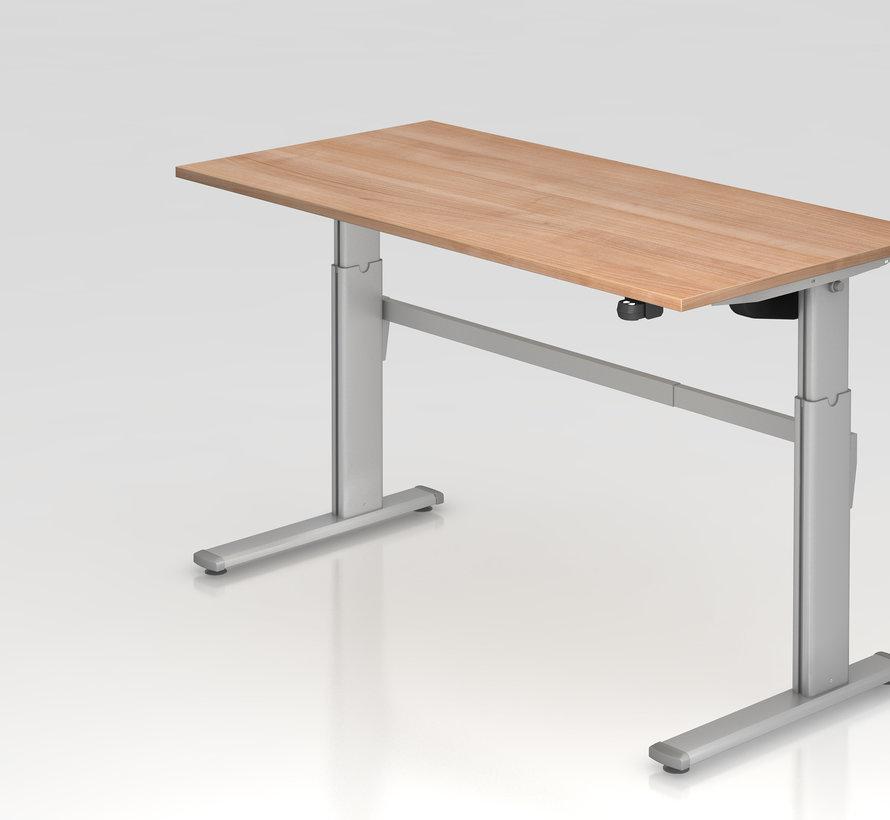 Schreibtisch XM 160 x 80 cm in Silber und in 7 Farbvarianten mit Elektroantrieb