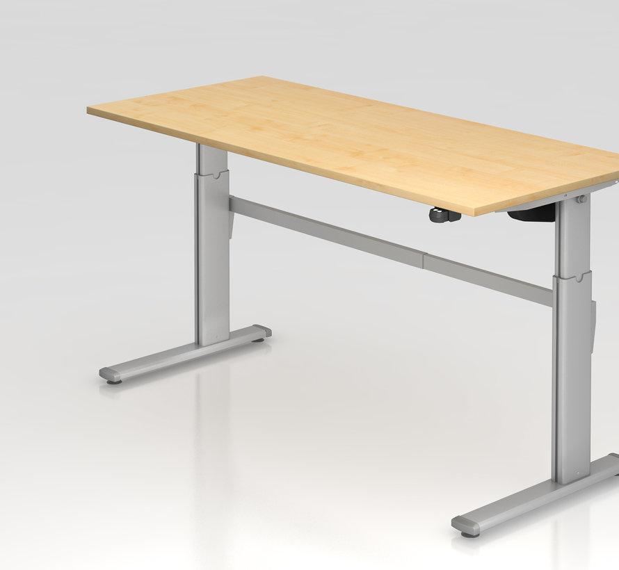 Schreibtisch XM 180 x 80 cm in Silber und in 7 Farbvarianten mit Elektroantrieb