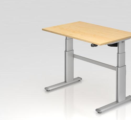 Serie HB Schreibtisch XD 120 x 80 cm in Silber und in 7 Farbvarianten mit Elektroantrieb