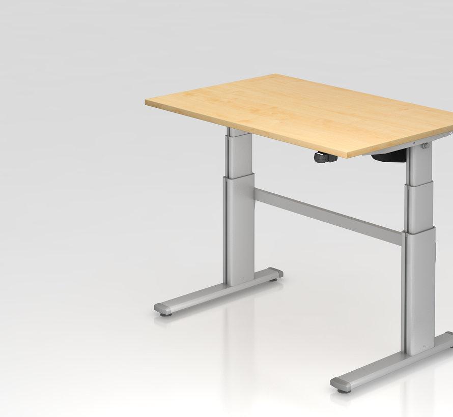 Schreibtisch XD 120 x 80 cm in Silber und in 7 Farbvarianten mit Elektroantrieb