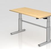 Serie HB Schreibtisch XD 160 x 80 cm in Silber mit Elekroantrieb