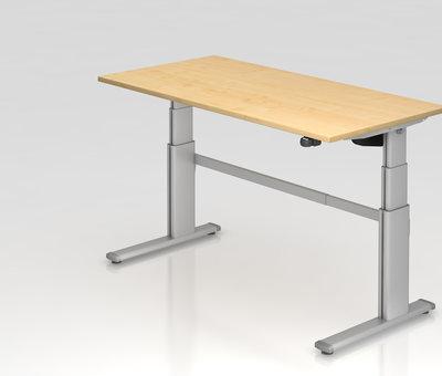 Serie HB Schreibtisch XD 160 x 80 cm in Silber und in 7 Farbvarianten mit Elektroantrieb