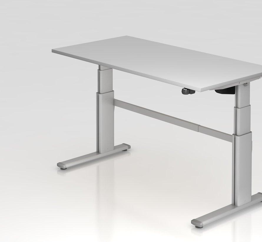 Schreibtisch XD 160 x 80 cm in Silber und in 7 Farbvarianten mit Elektroantrieb