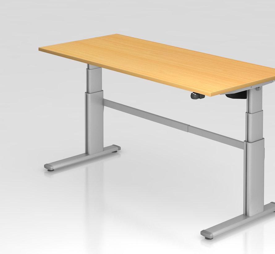 Schreibtisch XD 180 x 80 cm in Silber und in 7 Farbvarianten mit Elektroantrieb