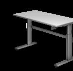 Schreibtisch, mit Kurbelantrieb