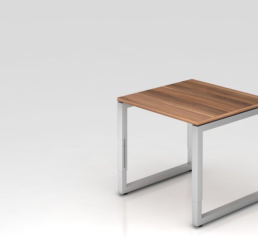 Schreibtisch Q 80 x 80 cm in Silber im Raster höhenverstellbar und in 7 Farbvarianten