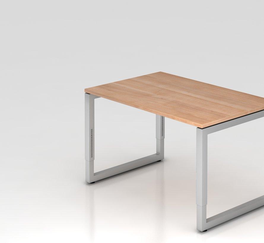 Schreibtisch Q 120 x 80 cm in Silber im Raster höhenverstellbarund in 7 Farbvarianten