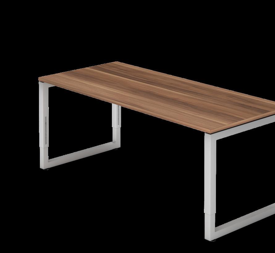 Schreibtisch Q 180 x 80 cm in Silber im Raster höhenverstellbar und in 7 Farbvarianten