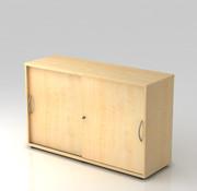 Serie HB Schiebetürenschrank 2 OH abschließbar, 120 x 40 x 74,8 cm