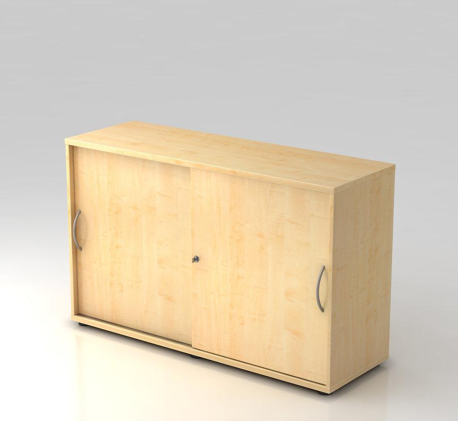 Schiebetürenschrank 2 OH abschließbar, 120 x 40 x 74,8 cm in 5 verschiedenen Farbvarianten
