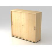 Serie HB Schiebetürenschrank 3 OH abschließbar, 120 x 40 x 110cm