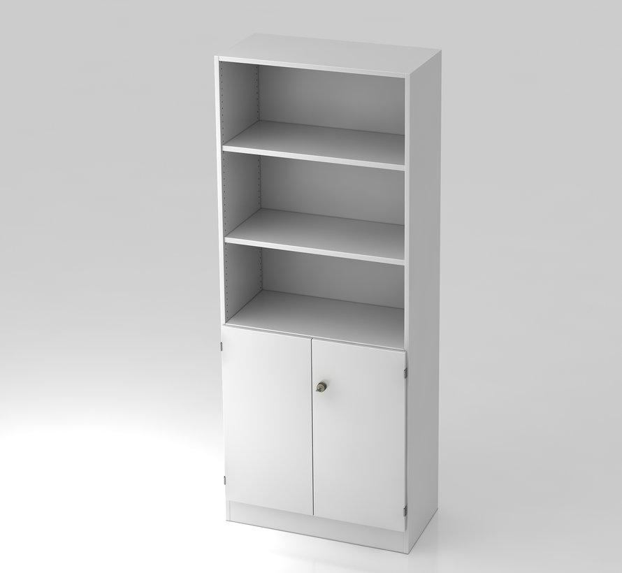 Schrank 5 OH, 80 x 42 x 200,4 cm, unten abschließbar und in 5 verschiedenen Farbvarianten