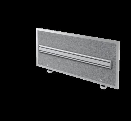 Serie HB Akkustik-Trennwand + Orga-Schiene mit Halterung in 3 verschiedenen Größen