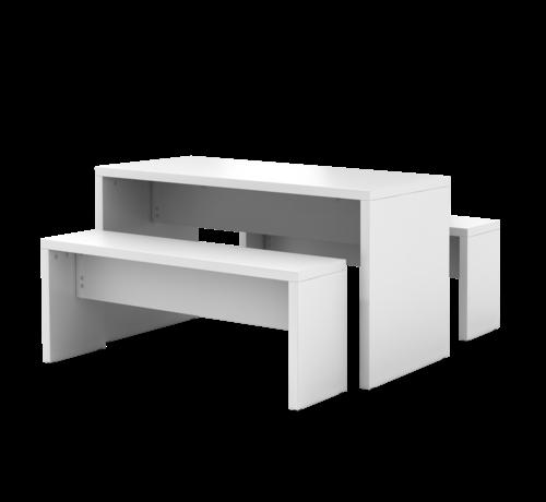 Serie HB Meetingpoint Garnitur 1 Tisch mit 2 Sitzbänken