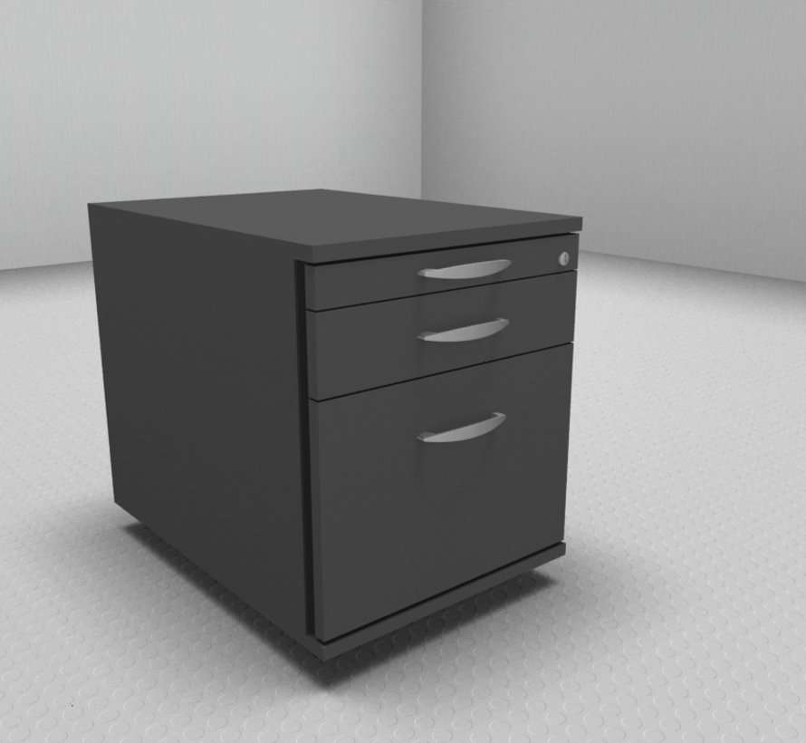 Hochwertiger Hängeregister-Rollcontainer mit 3 Schubladen 1-2-6