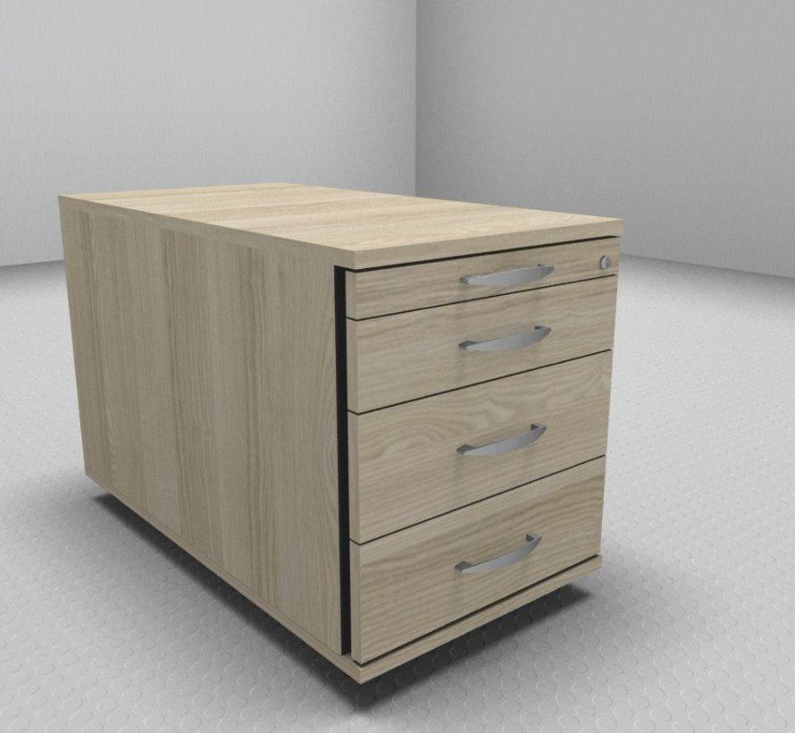 Hochwertiger Rollcontainer Serie MA  80cm tief - 4 Schubladen 1-2-3-3