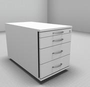 Serie MA  Rollcontainer 80cm tief - 4 Schubladen