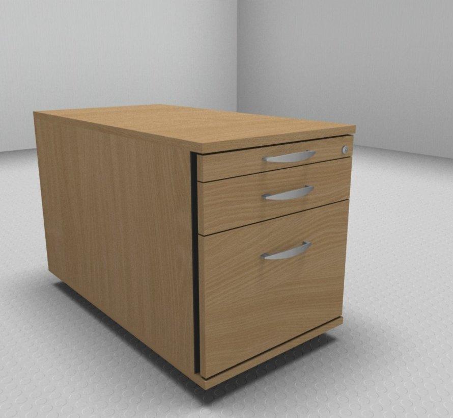 Hochwertiger Hängeregister-Rollcontainer 80cm tief mit 3 Schubladen 1-2-6
