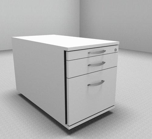 Serie MA - Empfangstheken für Ihren Empfangsbereich Hochwertiger Hängeregister-Rollcontainer 80cm tief mit 3 Schubladen 1-2-6