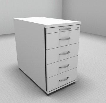 Serie MA - Empfangstheken für Ihren Empfangsbereich Standcontainer 80cm tief - 5 Schubladen