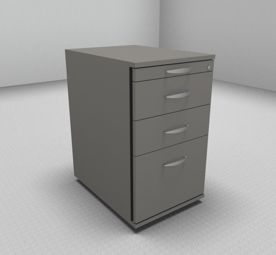 Hochwertiger Hängeregister-Standcontainer 60cm tief mit 3 Schubladen 1-2-2-6
