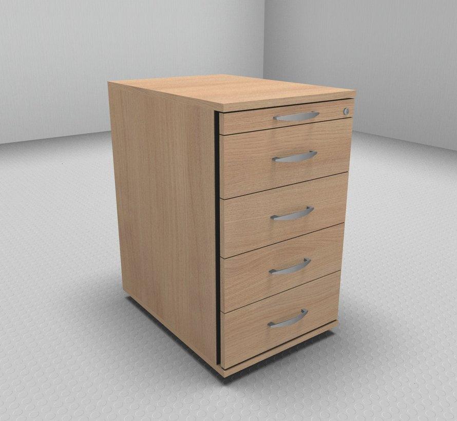 Hochwertiger Standcontainer 60cm tief Serie MA  - 5 Schubladen 1-3-3-3-3