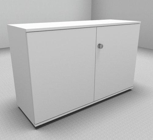 Serie MA - Empfangstheken für Ihren Empfangsbereich Hochwertiger Drehtürenschrank mit 2 Ordnerhöhen, 120cm breit