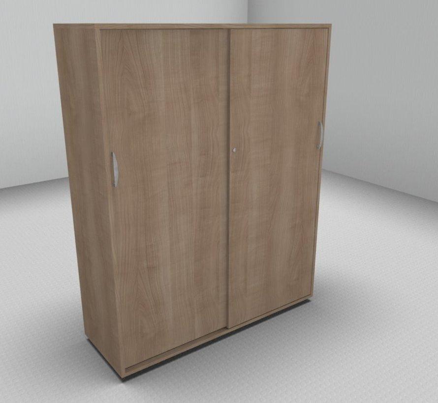Hochwertiger Schiebetürenschrank mit 4 Ordnerhöhen, 120cm breit
