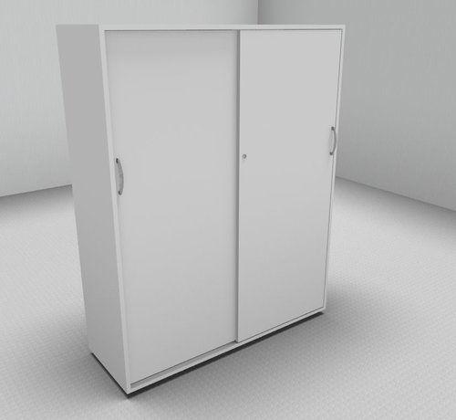 Serie MA - Empfangstheken für Ihren Empfangsbereich Hochwertiger Schiebetürenschrank mit 4 Ordnerhöhen, 120cm breit