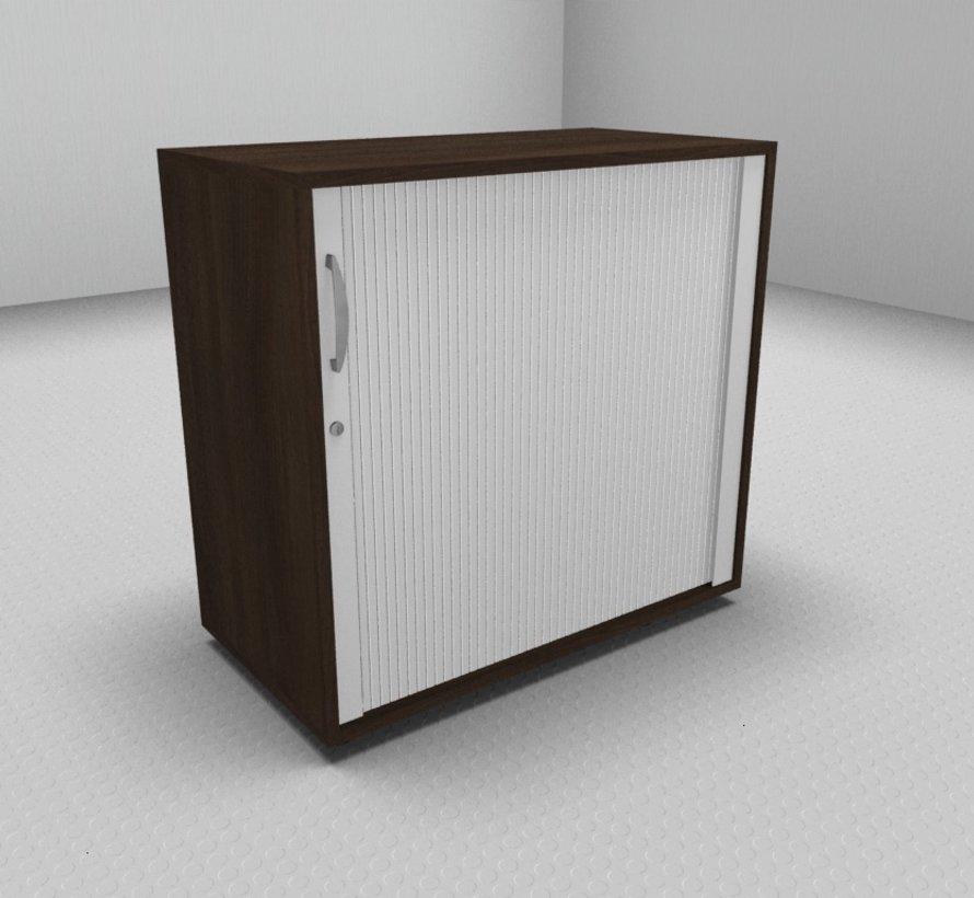 Hochwertiger Querrollladenschrank mit 2 Ordnerhöhen und Rollladen in weiß, 80cm breit