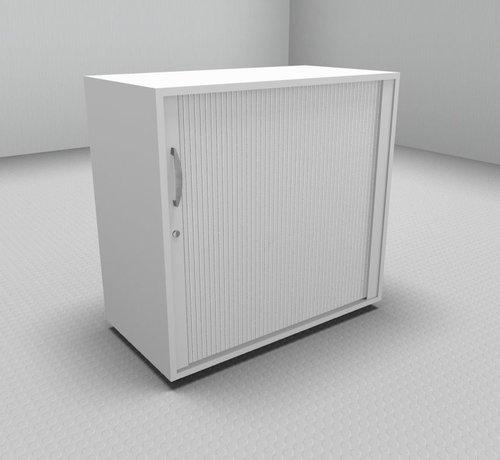 Serie MA  Hochwertiger Querrollladenschrank mit 2 Ordnerhöhen und Rollladen in weiß, 80cm breit