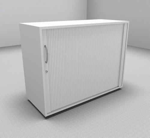Serie MA  Hochwertiger Querrollladenschrank mit 2 Ordnerhöhen und Rollladen in weiß, 100cm breit