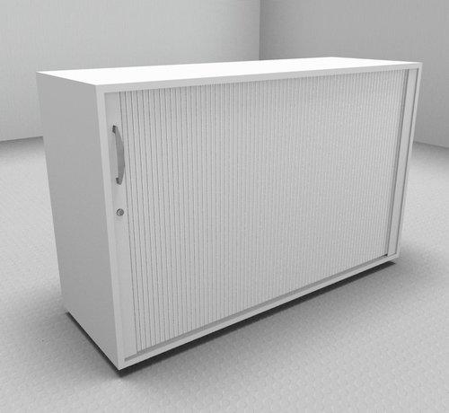 Serie MA  Hochwertiger Querrollladenschrank mit 2 Ordnerhöhen und Rollladen in weiß, 120cm breit