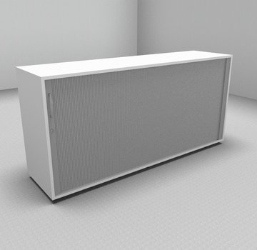Serie MA  Querrollladenschrank 2OH silber - 160cm breit