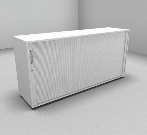 Serie MA  Hochwertiger Querrollladenschrank mit 2 Ordnerhöhen und Rollladen in weiß, 160cm breit
