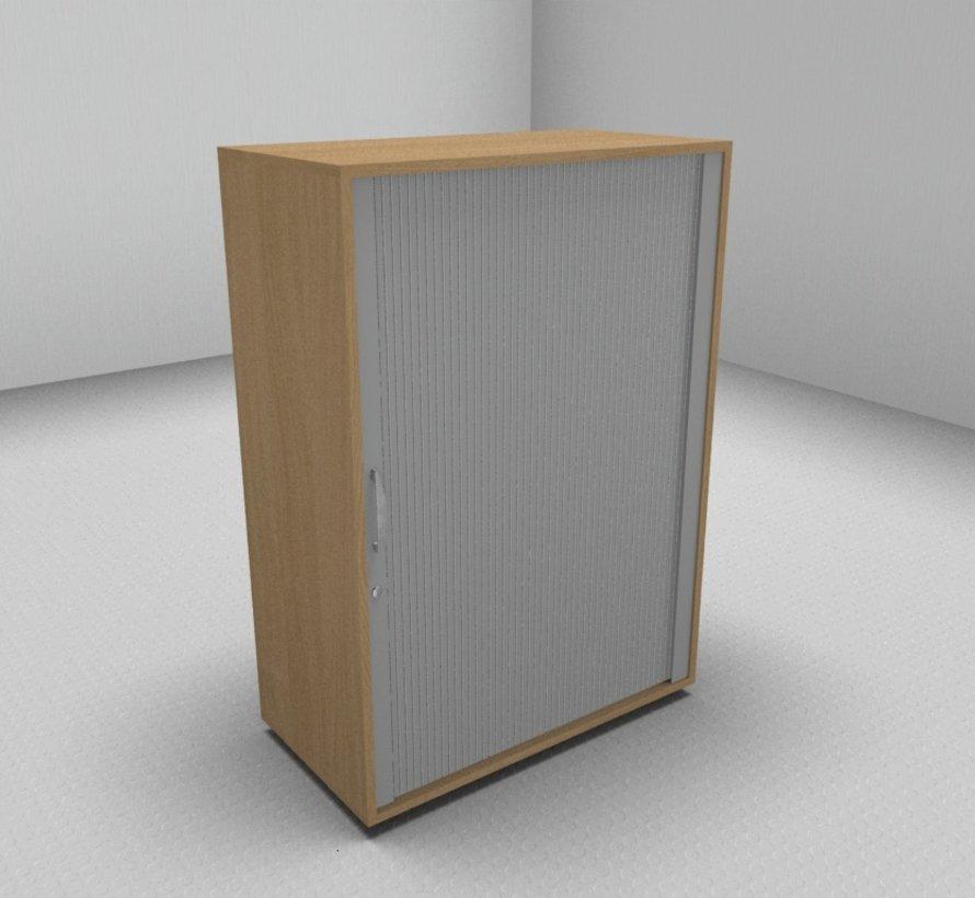 Hochwertiger Querrollladenschrank mit 3 Ordnerhöhen, 80cm breit  - Rollladen in silbergrau