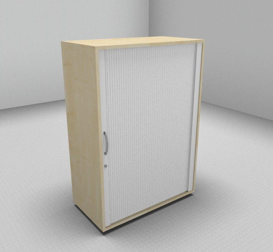 Hochwertiger Querrollladenschrank mit 3 Ordnerhöhen und Rollladen in weiß, 80cm breit
