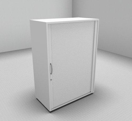 Serie MA  Hochwertiger Querrollladenschrank mit 3 Ordnerhöhen und Rollladen in weiß, 80cm breit