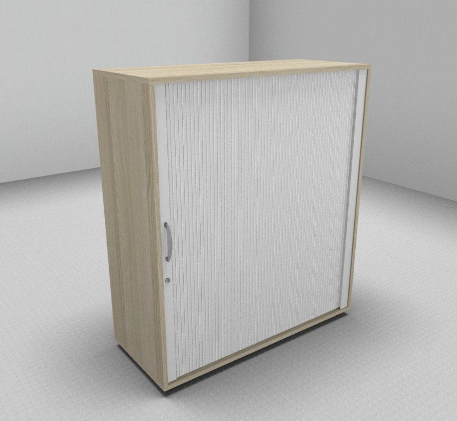 Hochwertiger Querrollladenschrank mit 3 Ordnerhöhen und Rollladen in weiß, 100cm breit